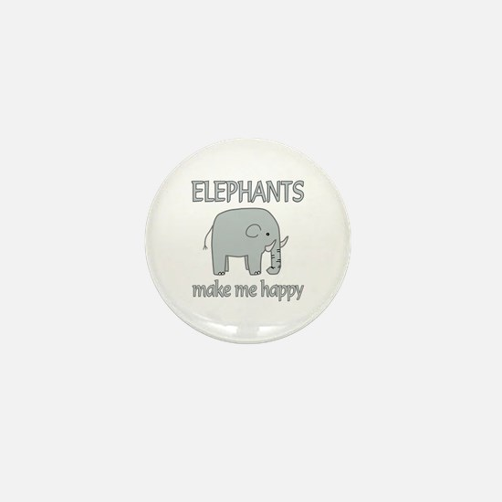 Elephant Happy Mini Button (100 pack)