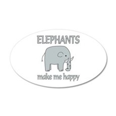 Elephant Happy Wall Decal