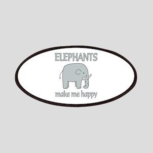 Elephant Happy Patches
