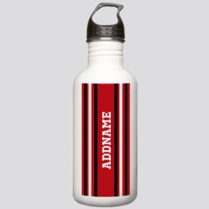 Custom Red White Black Stainless Water Bottle 1.0L