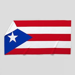 Flag of Puerto Rico Beach Towel
