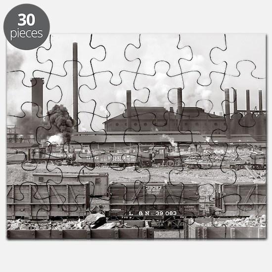 Vintage railroad Puzzle