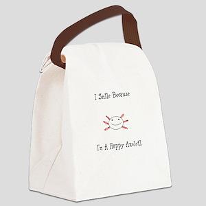 Happy Axolotl Canvas Lunch Bag