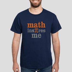 Math Inspires Me Dark T-Shirt
