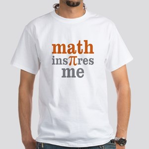 Math Inspires Me White T-Shirt