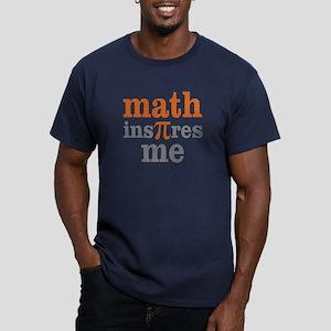 Math Inspires Me Men's Fitted T-Shirt (dark)
