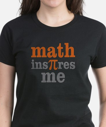 Math Inspires Me Women's Dark T-Shirt