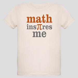 Math Inspires Me Organic Kids T-Shirt