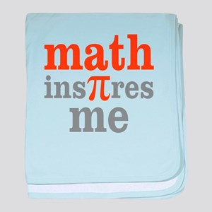 Math Inspires Me baby blanket