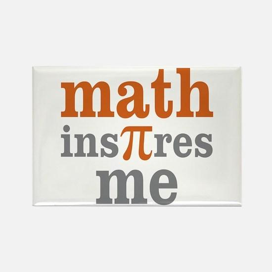 Math Inspires Me Rectangle Magnet