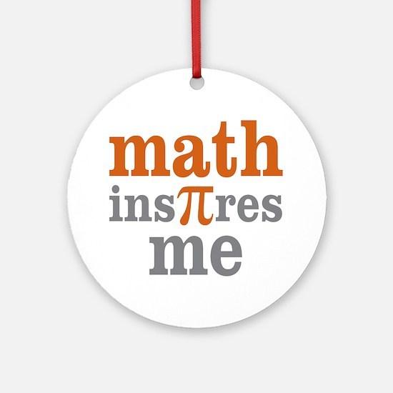 Math Inspires Me Ornament (Round)