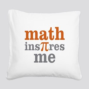 Math Inspires Me Square Canvas Pillow