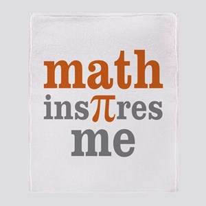 Math Inspires Me Throw Blanket