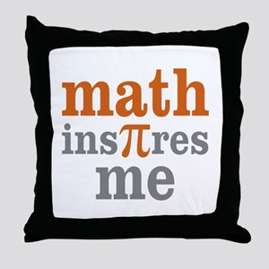 Math Inspires Me Throw Pillow