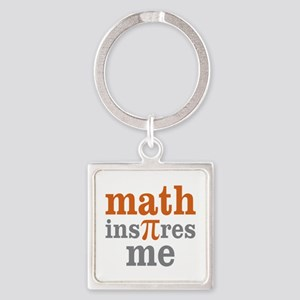 Math Inspires Me Square Keychain