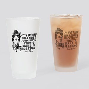 Emma Goldman On Voting Drinking Glass