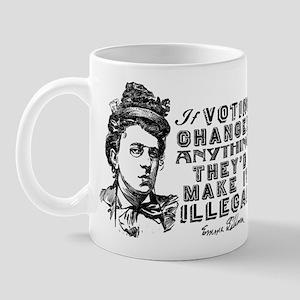 Emma Goldman On Voting Mugs