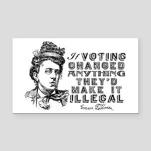 Emma Goldman On Voting Rectangle Car Magnet