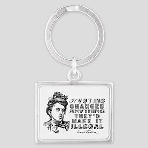 Emma Goldman On Voting Keychains
