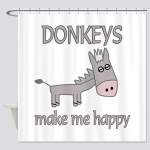 Donkey Happy Shower Curtain