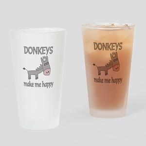 Donkey Happy Drinking Glass
