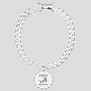 Donkey Happy Charm Bracelet, One Charm