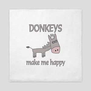 Donkey Happy Queen Duvet