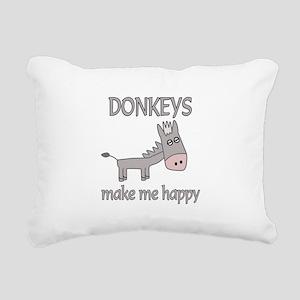 Donkey Happy Rectangular Canvas Pillow