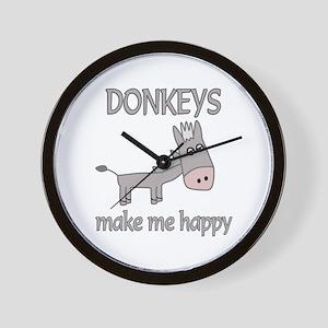 Donkey Happy Wall Clock