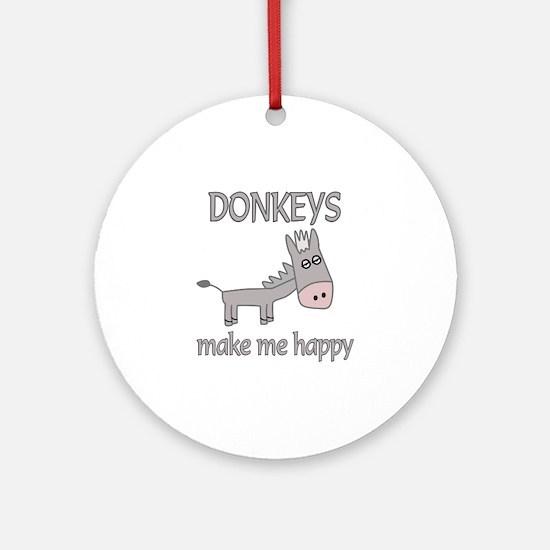 Donkey Happy Ornament (Round)