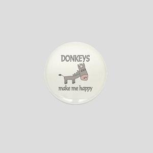 Donkey Happy Mini Button