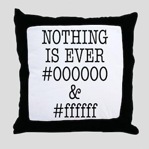 000000 and ffffff Throw Pillow
