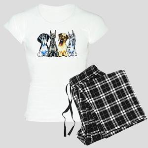 4 Great Danes Pajamas