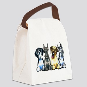4 Great Danes Canvas Lunch Bag