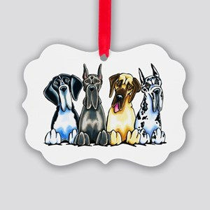 4 Great Danes Ornament