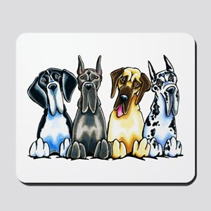 4 Great Danes Mousepad