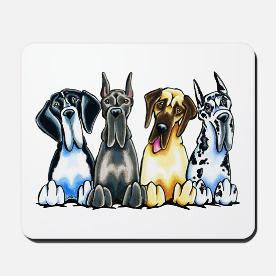 4 Great Danes Mousepad