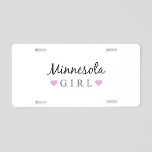 Minnesota Girl Aluminum License Plate