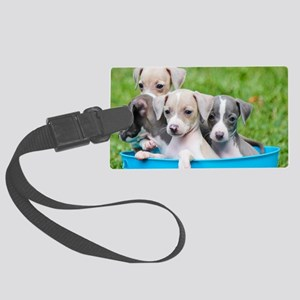 Italian Greyhound Puppies Large Luggage Tag