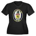 USS McCANDLE Women's Plus Size V-Neck Dark T-Shirt