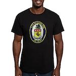 USS McCANDLESS Men's Fitted T-Shirt (dark)