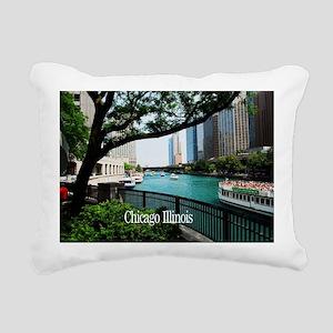 Chicago River Rectangular Canvas Pillow