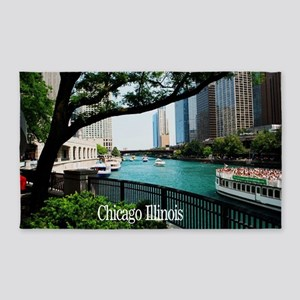 Chicago River 3'x5' Area Rug
