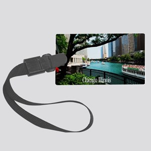 Chicago River Large Luggage Tag