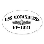 USS McCANDLESS Sticker (Oval)