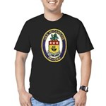 USS McCANDLESS Men's Fitted T-Shirt (dark)