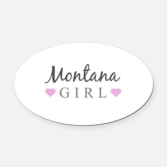 Montana Girl Oval Car Magnet