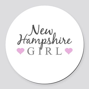 New Hampshire Girl Round Car Magnet
