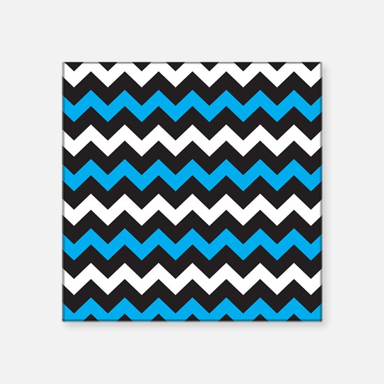 Black Blue And White Chevron Sticker