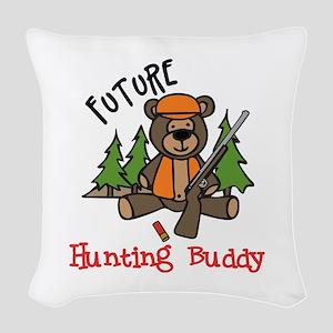 Hunting Buddy Woven Throw Pillow